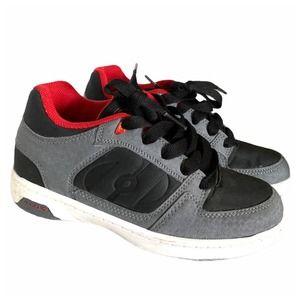 Boys Heely's grey/red/black sneakers